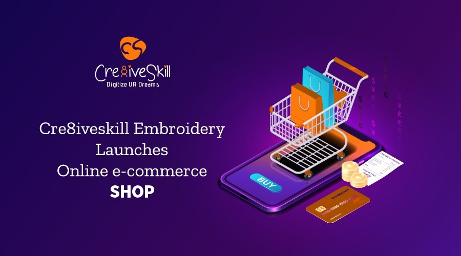 Cre8iveskill Launches Online eCommerce Embroidery Digitizing Design Shop