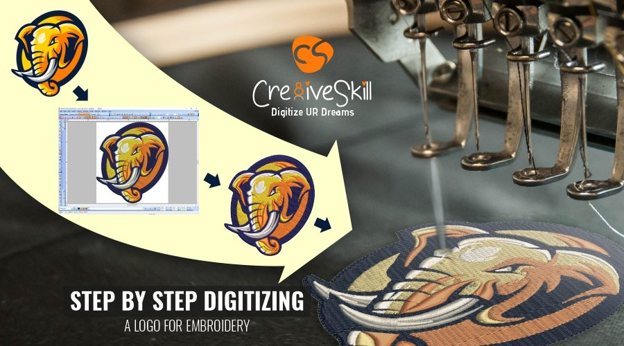 How to Digitize a Logo for Embroidery- Step by Step Digitizing