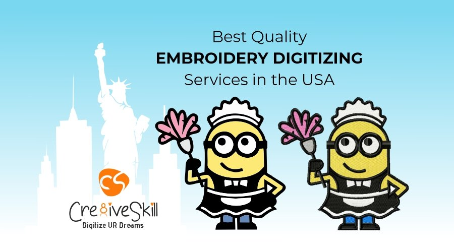 Best Quality Embroidery Digitizing Services in the USA by Cre8iveSkill
