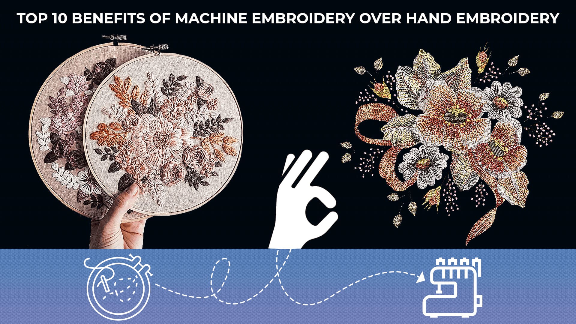 Benefits of machine embroidery