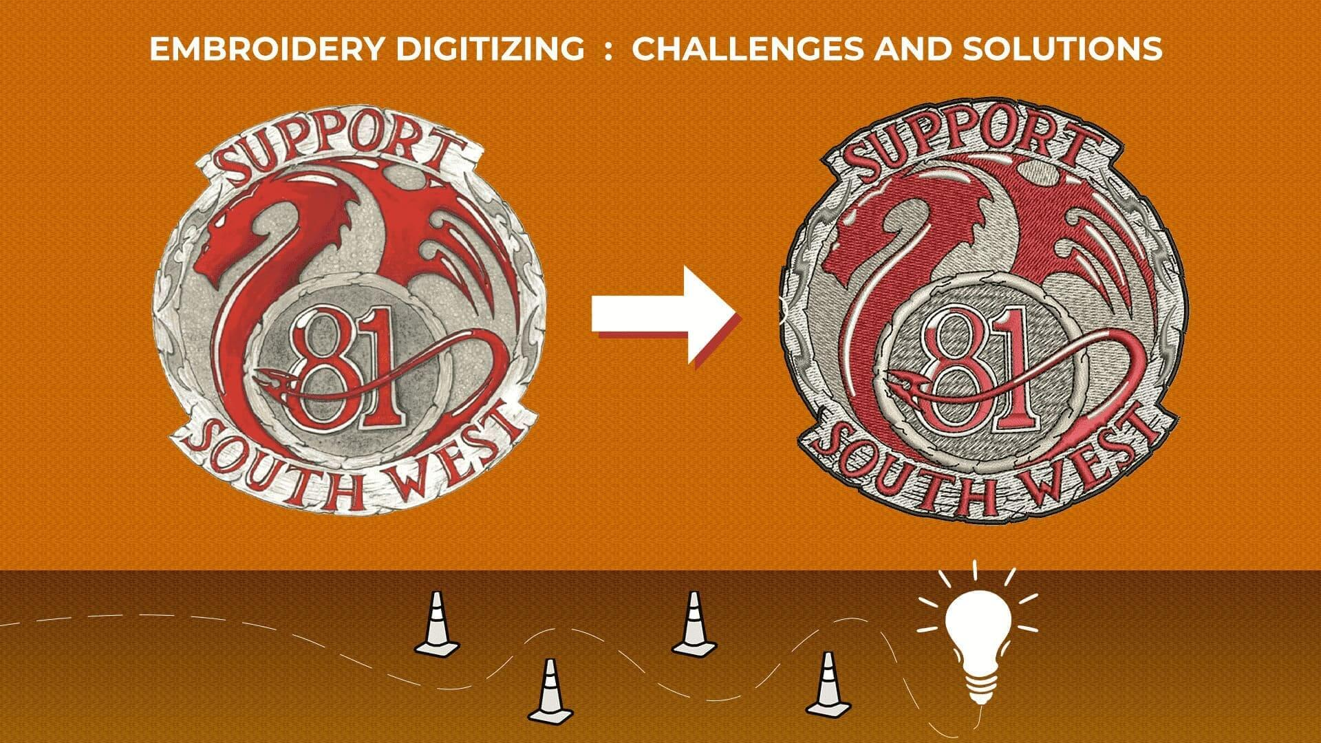 Embroidery digitizing chalenges and Solution