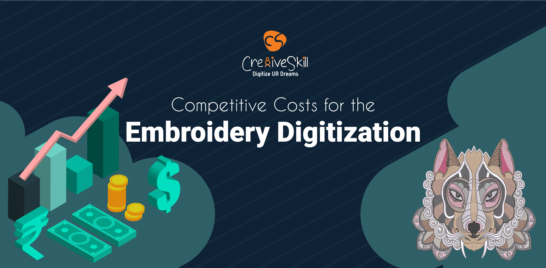 Cre8iveskill's Competitive Costs for the Embroidery Digitization