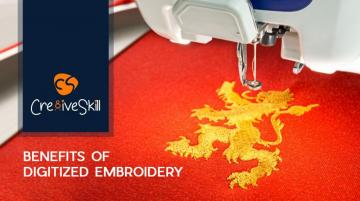 Benefits Of Digitized Embroidery by Cre8iveskill