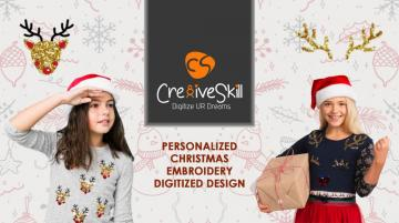 Pamper Your Festive Mood with Personalized Christmas Embroidery Digitized Designs