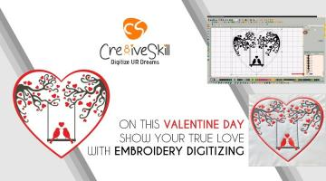 On This Valentine Day Show Your True Love with Embroidery Digitizing