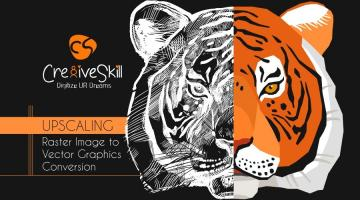 How to Manage Upscaling Raster Image to Vector Graphics