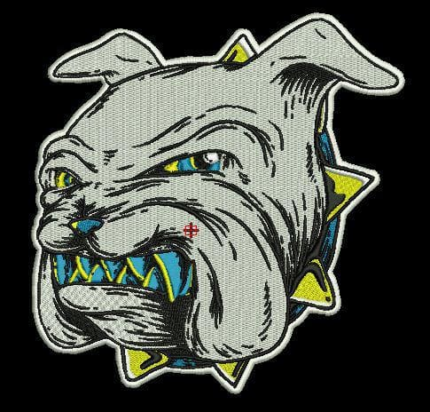Embroidery Digitizing of a Bulldog's face