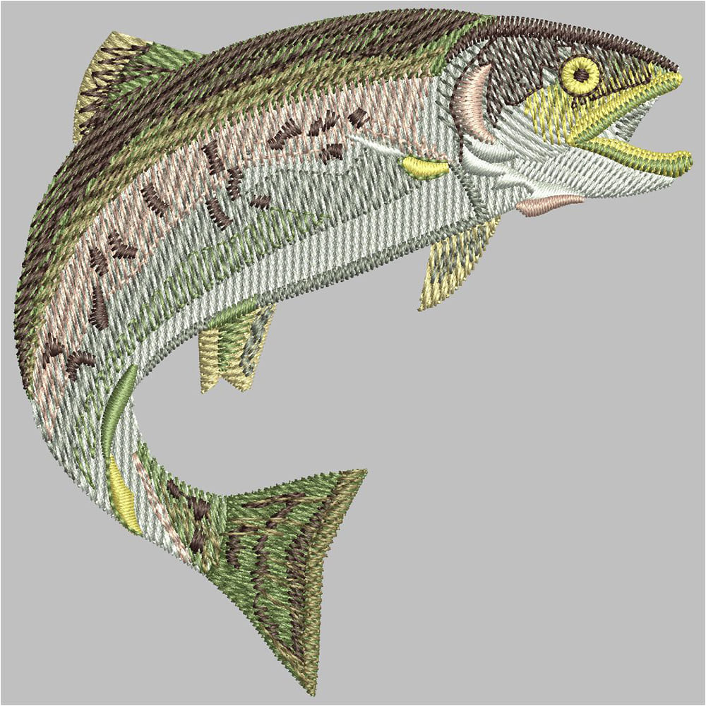 Fish Machine Embroidery Design