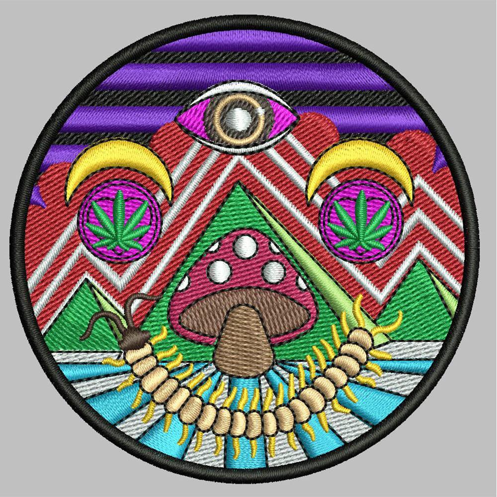 Mushroom Embroidery