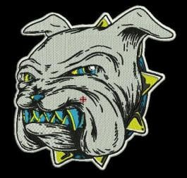 Embroidery Digitizing of a Bulldog�s face