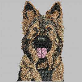 German Shepherd Embroidery Digitizing