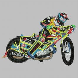 Sports Motorcycle Embroidery Design