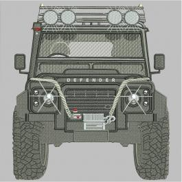 Jeep Embroidery Design