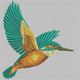 King Fisher Bird Embroidery