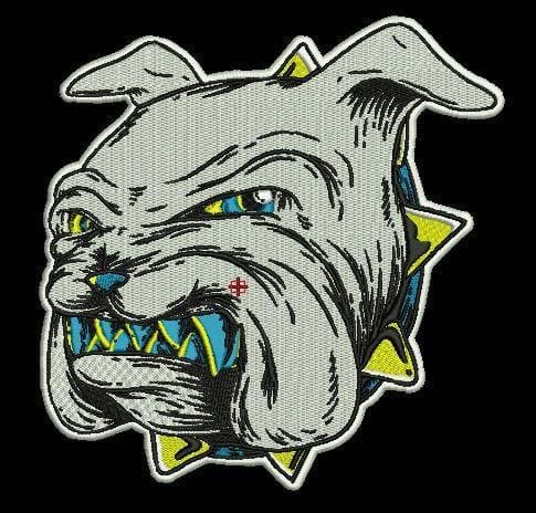 Embroidery Digitizing of a Bulldog's face after