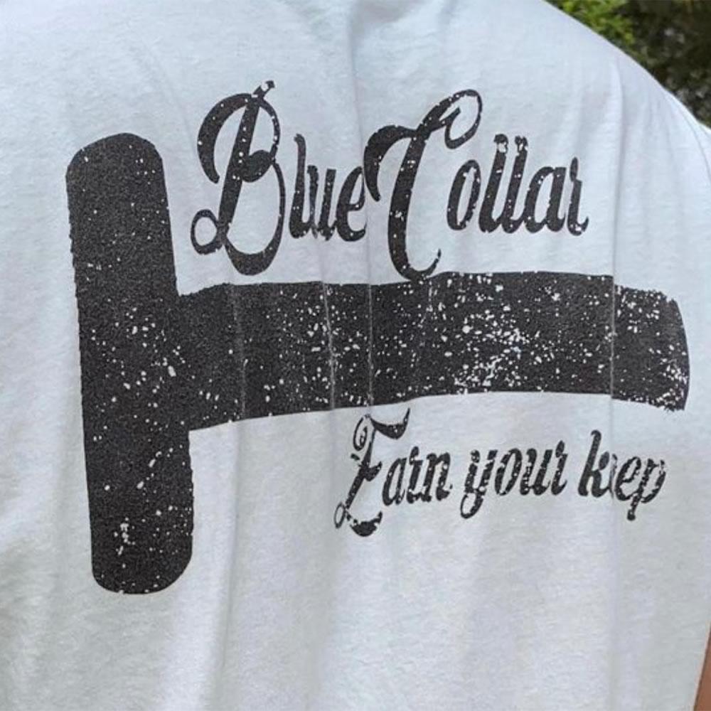 Blue collar logo vectorization before