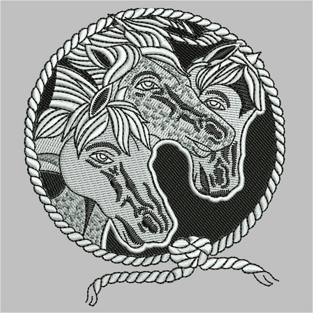 Horse Embroidery Design After