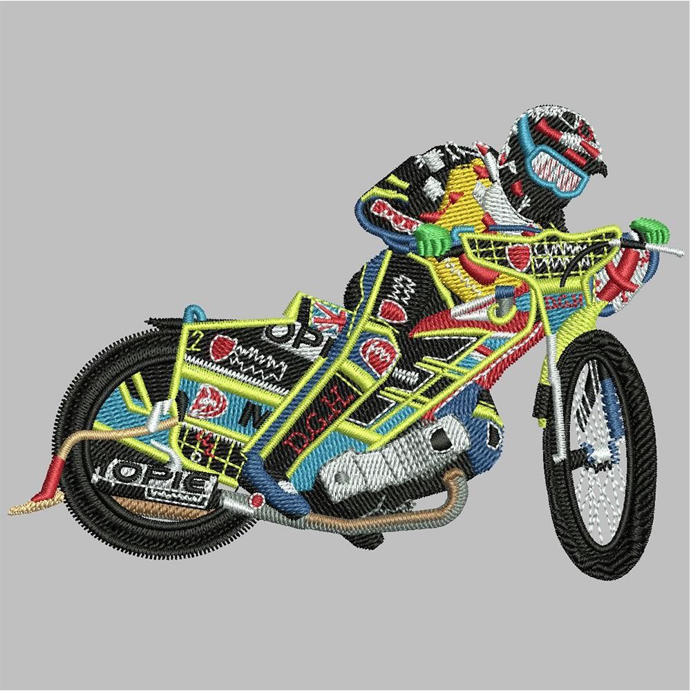After Sports Motorcycle Embroidery Design