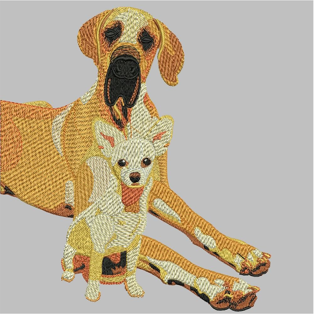After Dog Embroidery Design