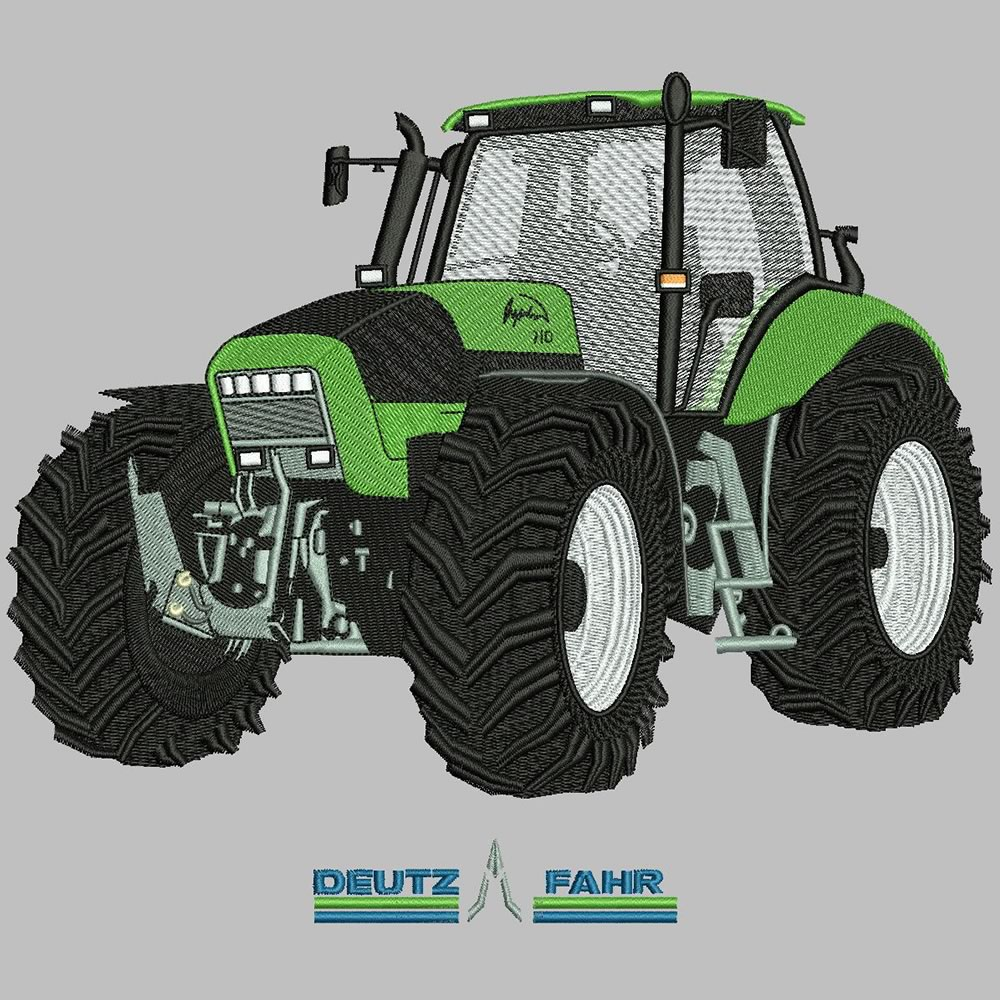 After Tractor Embroidery Designs