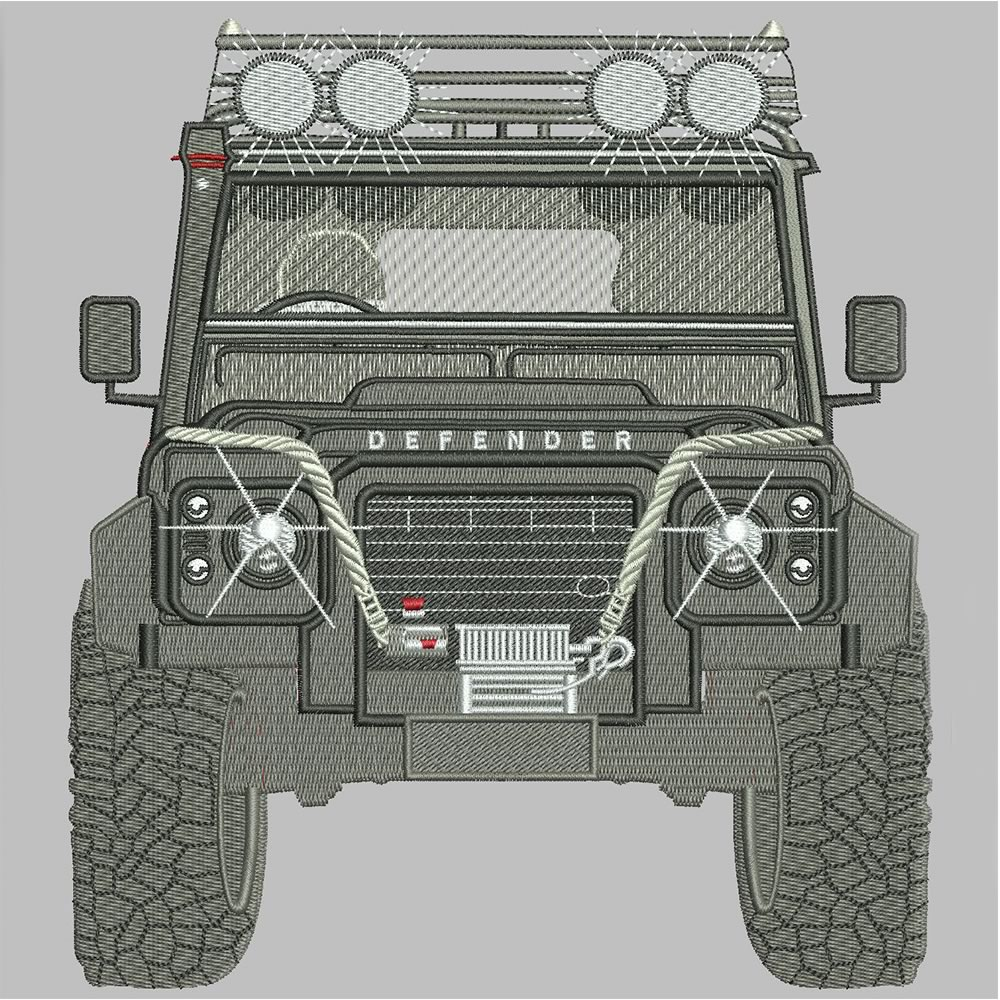 After Jeep Embroidery Design