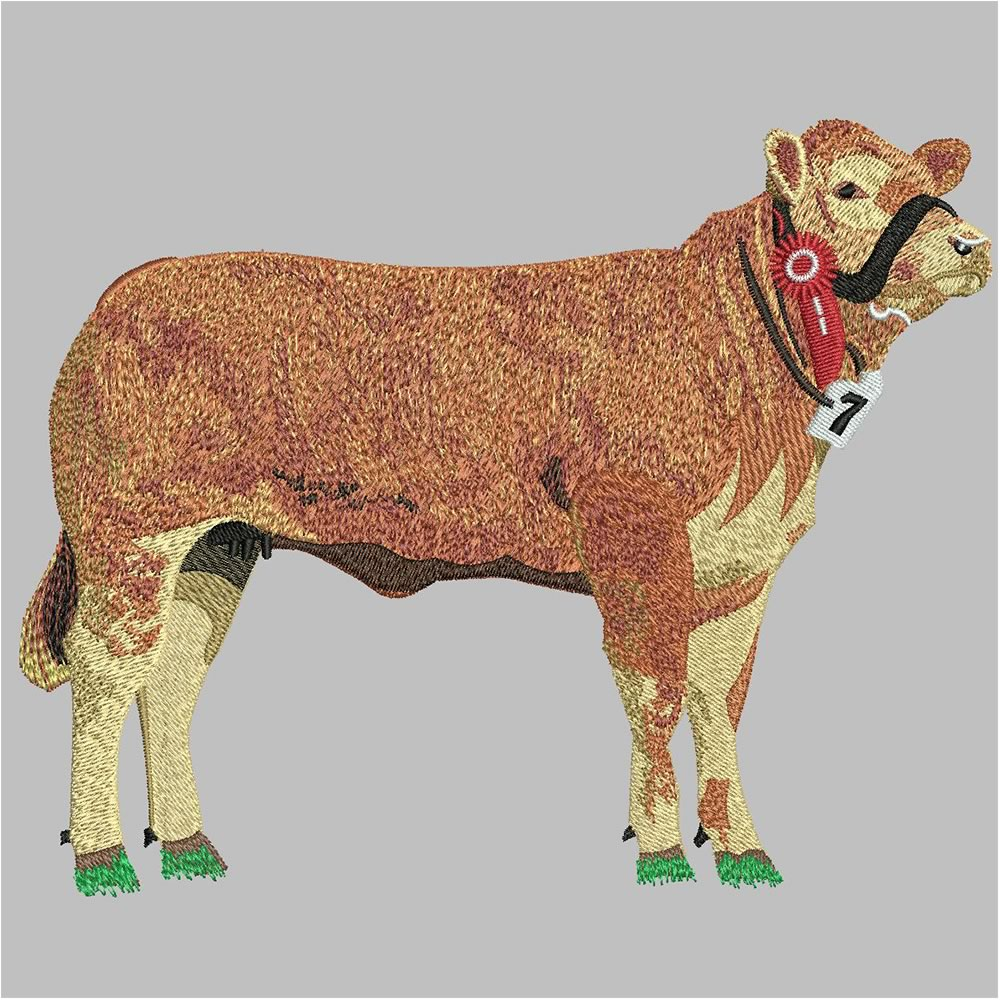 After Cow Embroidery Design