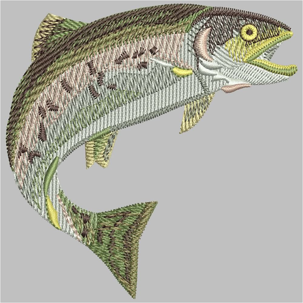 After Fish Machine Embroidery Design