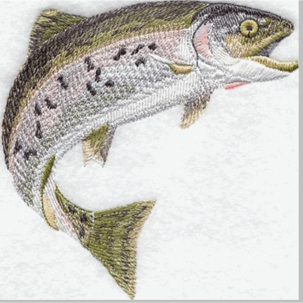 Before Fish Machine Embroidery Design