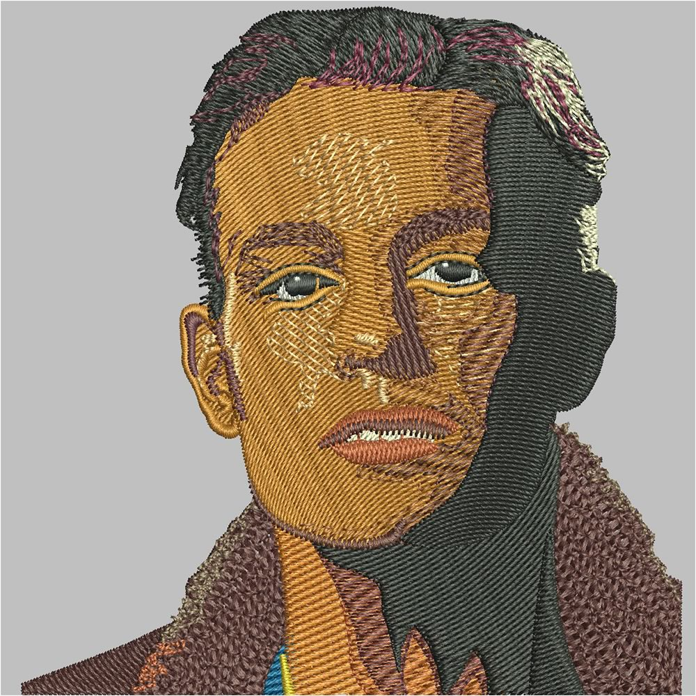 After Face Embroidery Digitizing