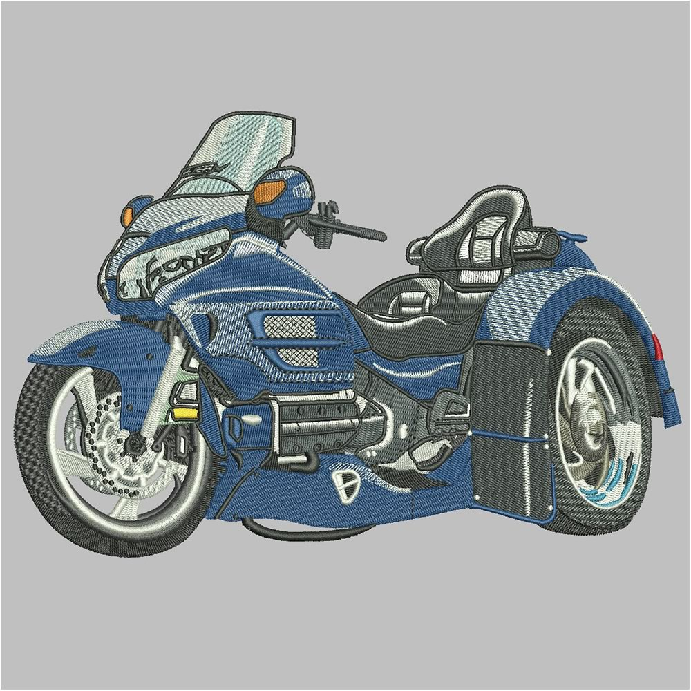 After Sport Bike Embroidery