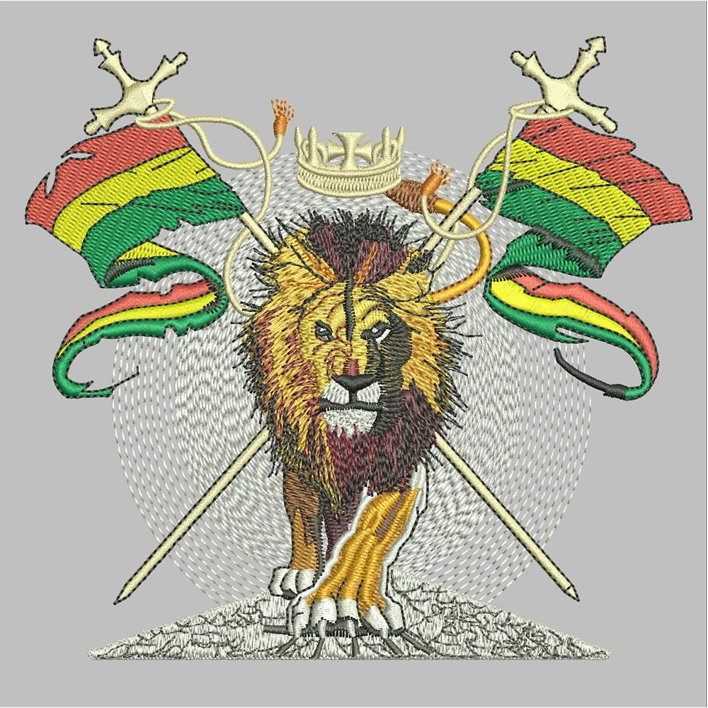 After Lion Embroidery