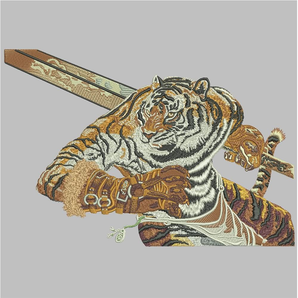 Tiger Embroidery Pattern After