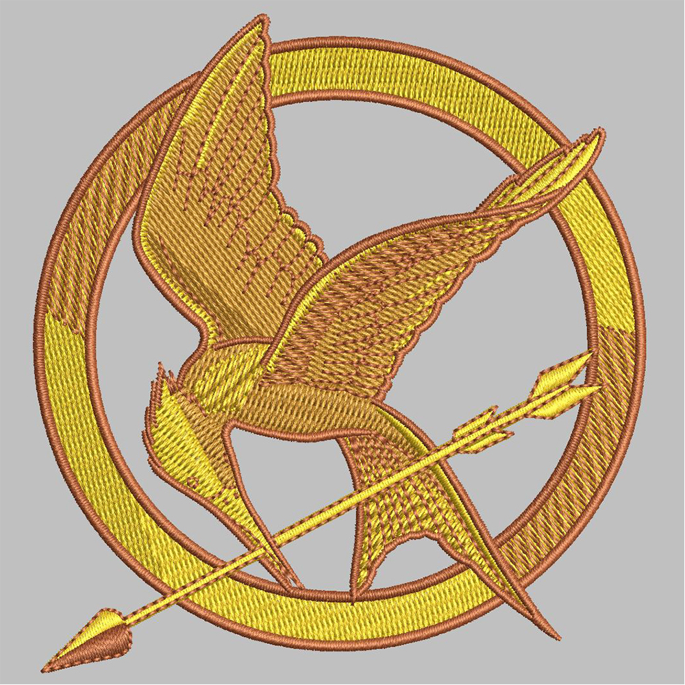 Bird Mocking Jay Embroidery After