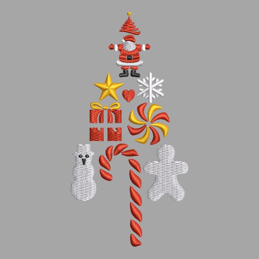Santa Accessories Digitized Design