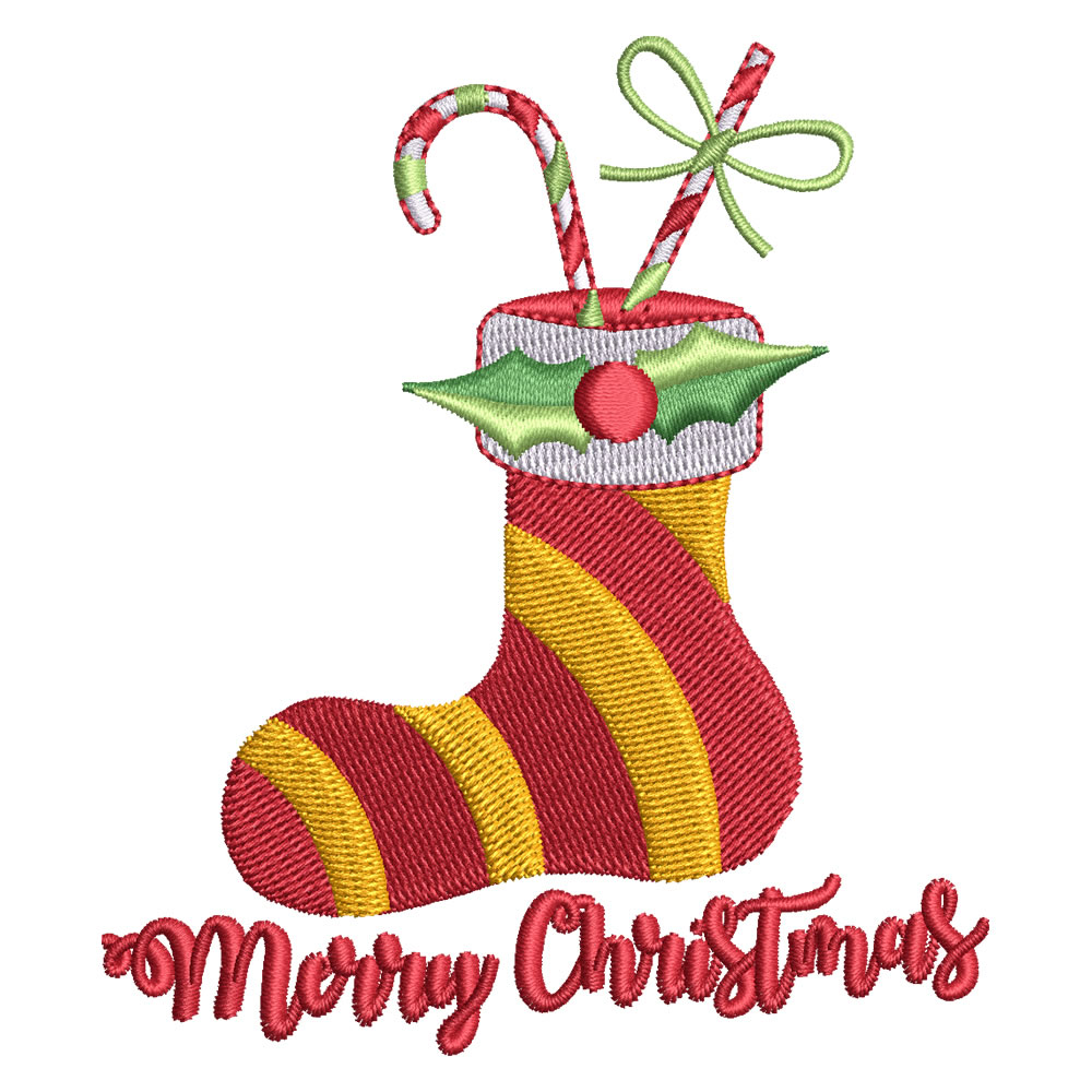 Digitized Christmas Socks
