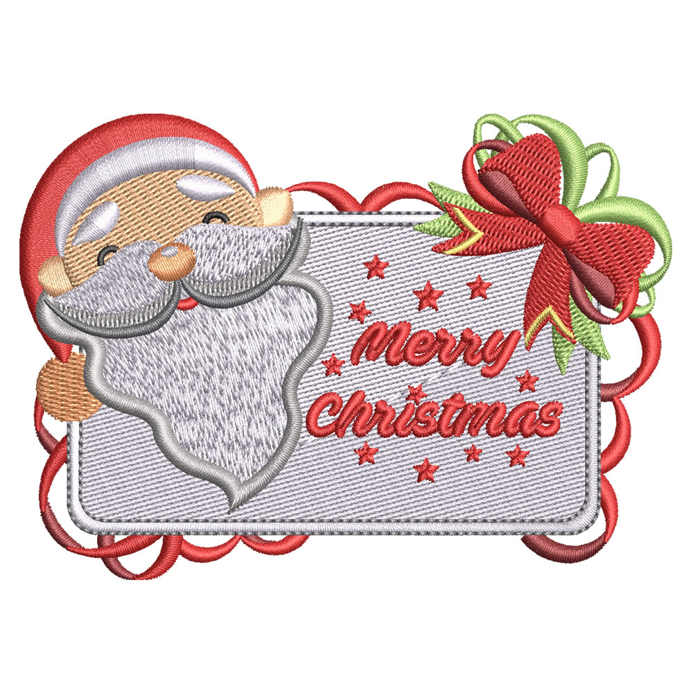 Digitized Santa with Board