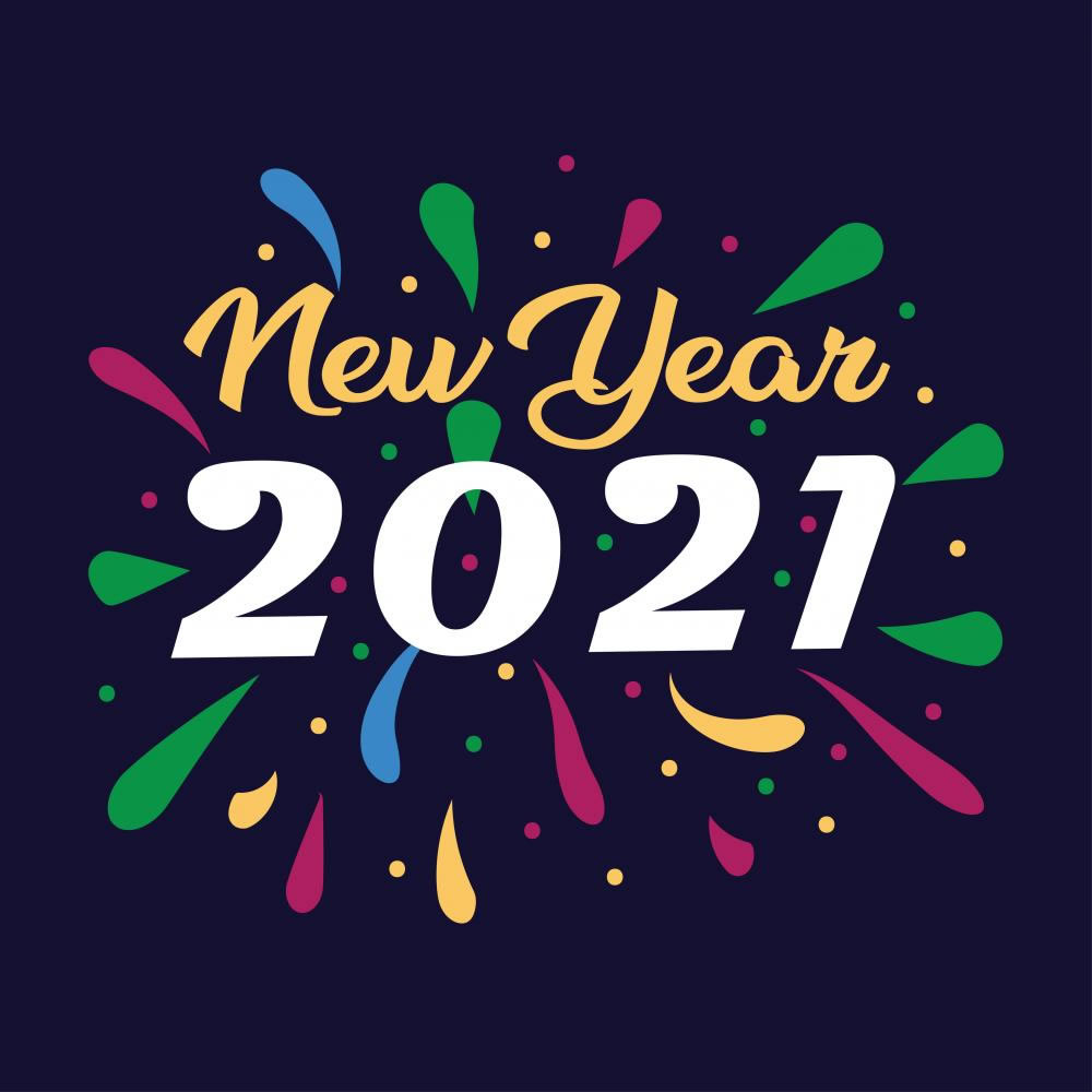 Wishing happy new year 2021 Vector