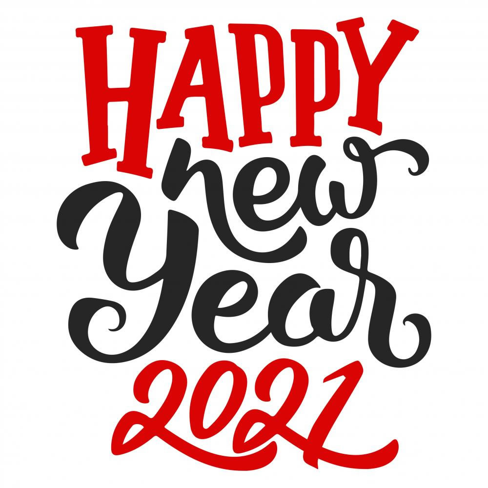 Vector art: New year 2021
