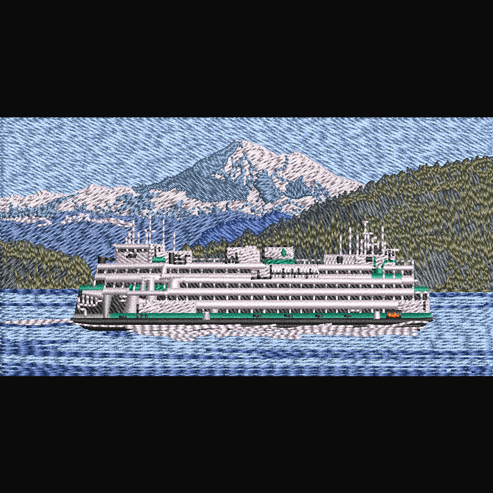 Embroidery Design: Cruise ship