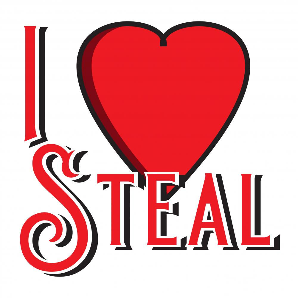 Vector Art: I Love Steal