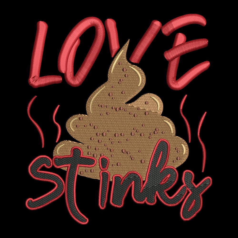 Embroidery Design: Love Stinks