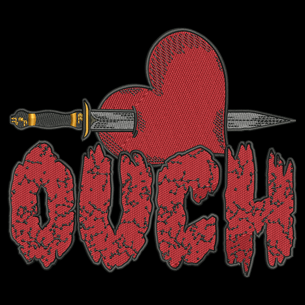 Embroidery Design: Valentine Ouch