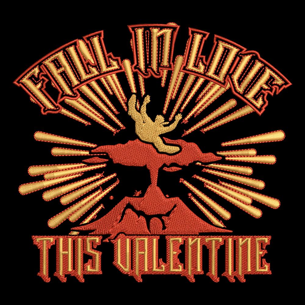 Embroidery Design: Anti Valentine's Day