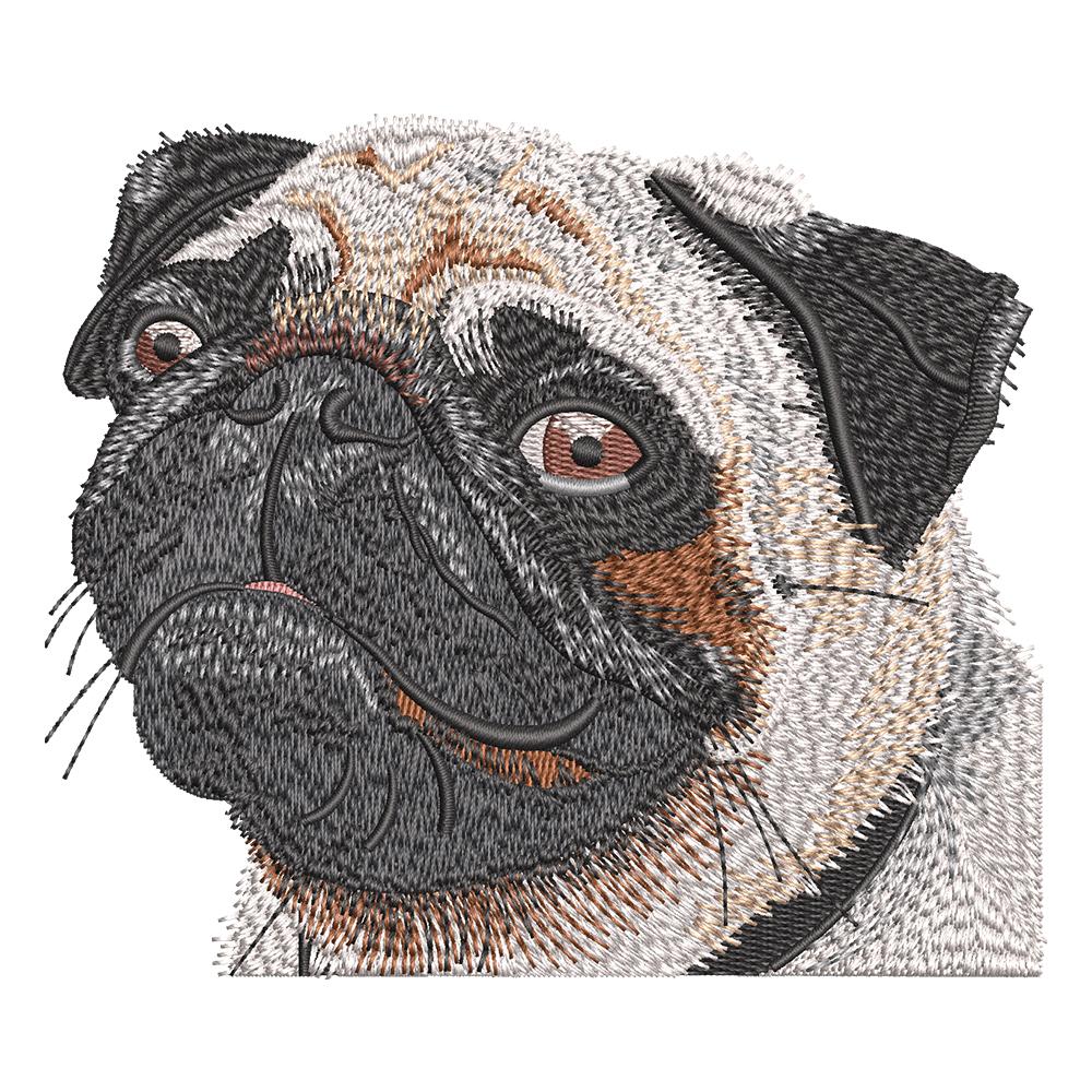 Embroidery Design: Pug Dog