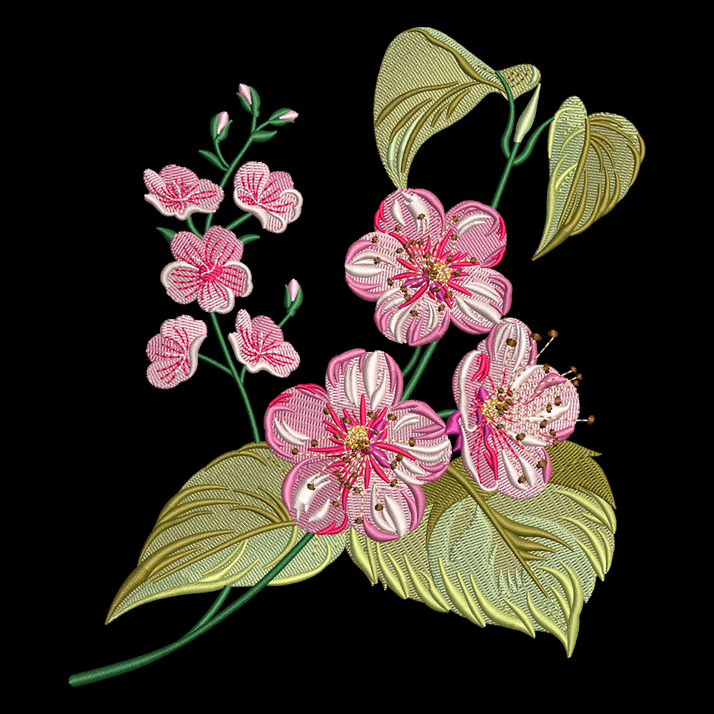 Cre8iveSkill's Embroidery Design Gaura Flower