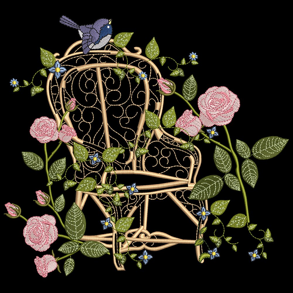 Cre8iveSkill's Embroidery Design Gerbera Flower garden
