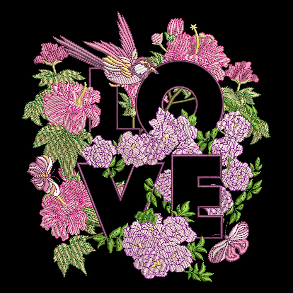 Cre8iveSkill's Embroidery Design Love Flower
