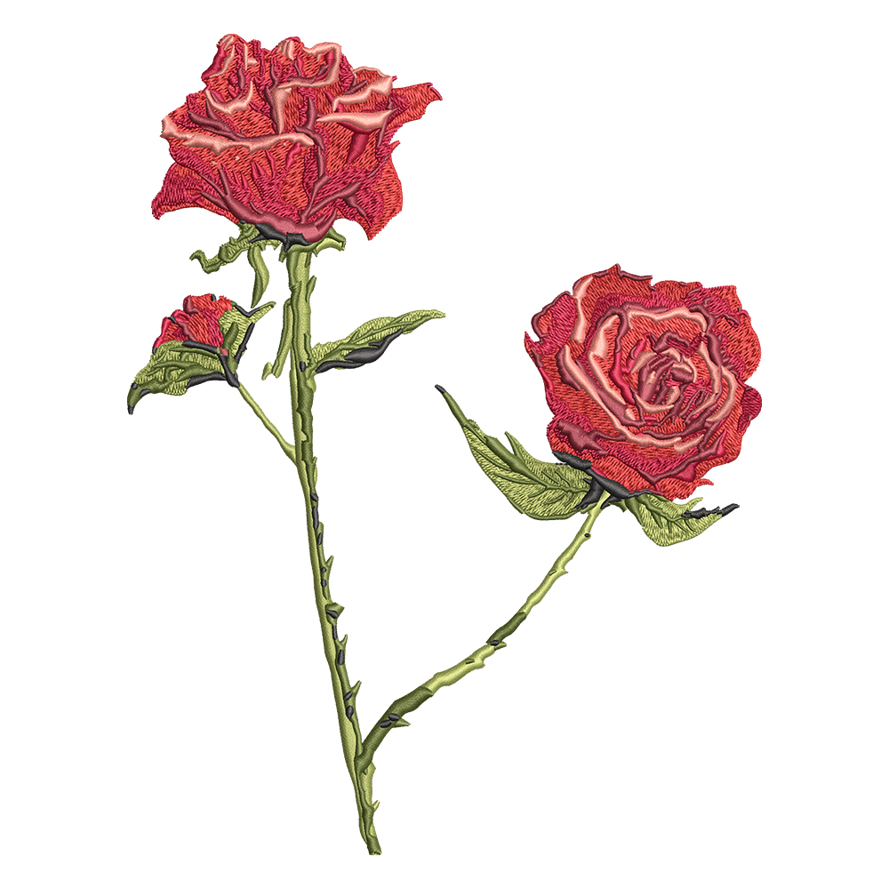 Cre8iveSkill's Embroidery Design Red Roses