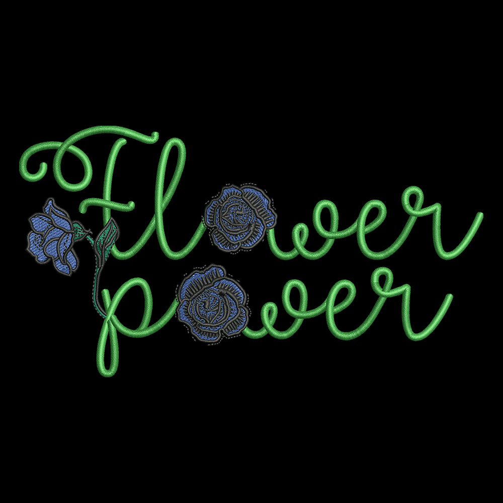 Cre8iveSkill's Embroidery Design Flower Power Blue Rose