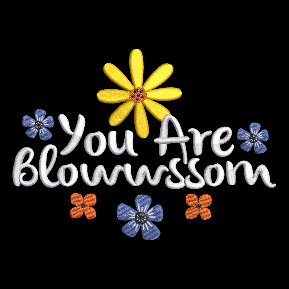 Embroidery Design Blossom Flower